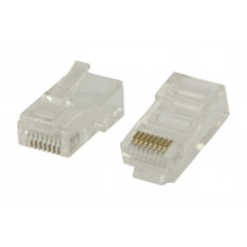 RJ45 connector cat.5e - solide kern.